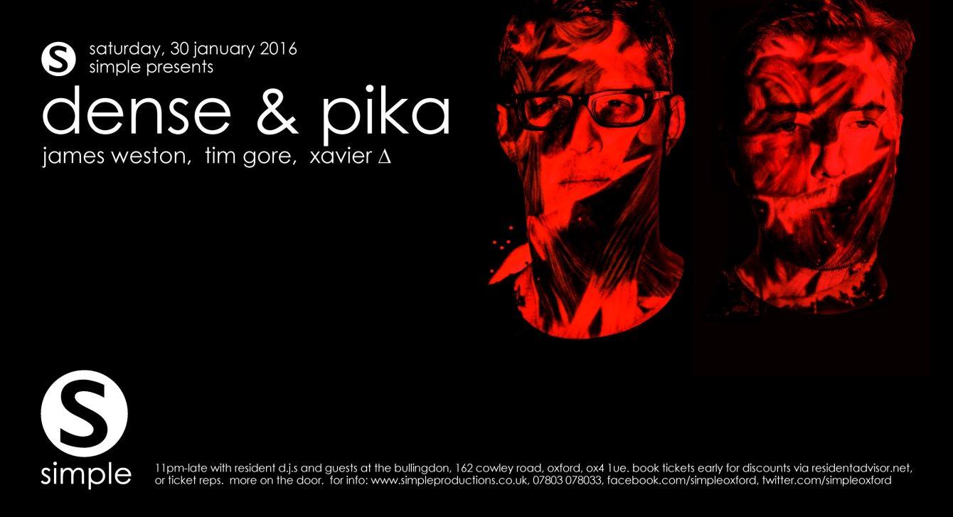 Simple presents Dense & Pika - Flyer front