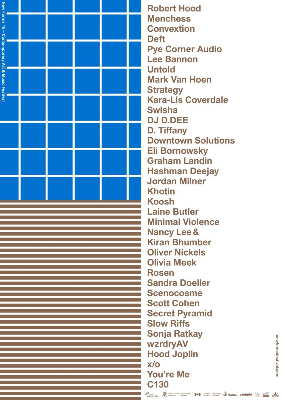 New Forms Festival 16 - Flyer back