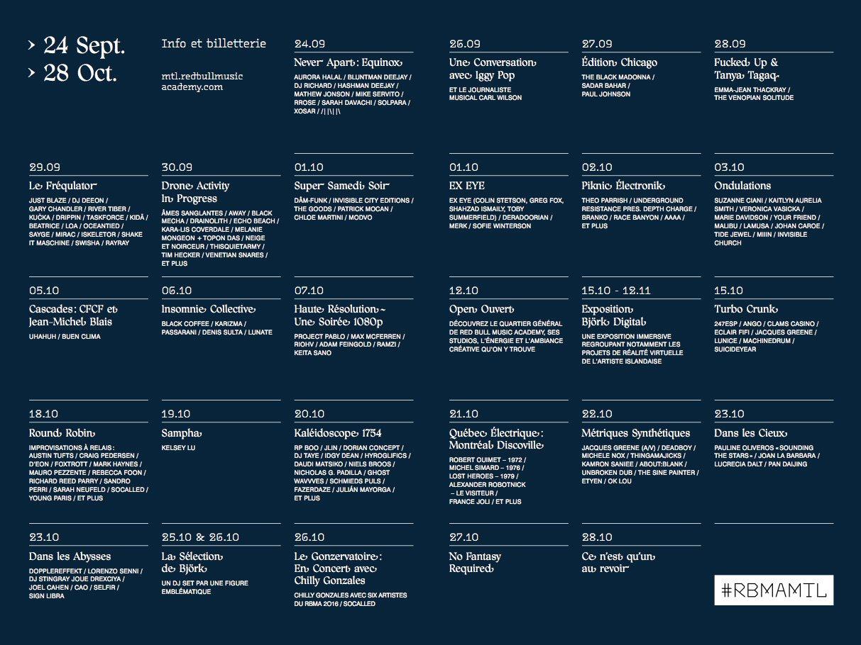 Rbma Montréal 2016 Pres.: Dans Le Abysses with Lorenzo Senni, Dopplereffekt and More - Flyer back