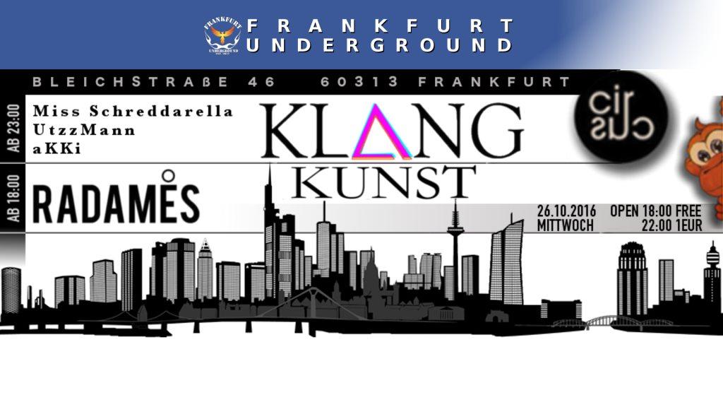 Klang Kunst presents Radames Couture - Flyer front
