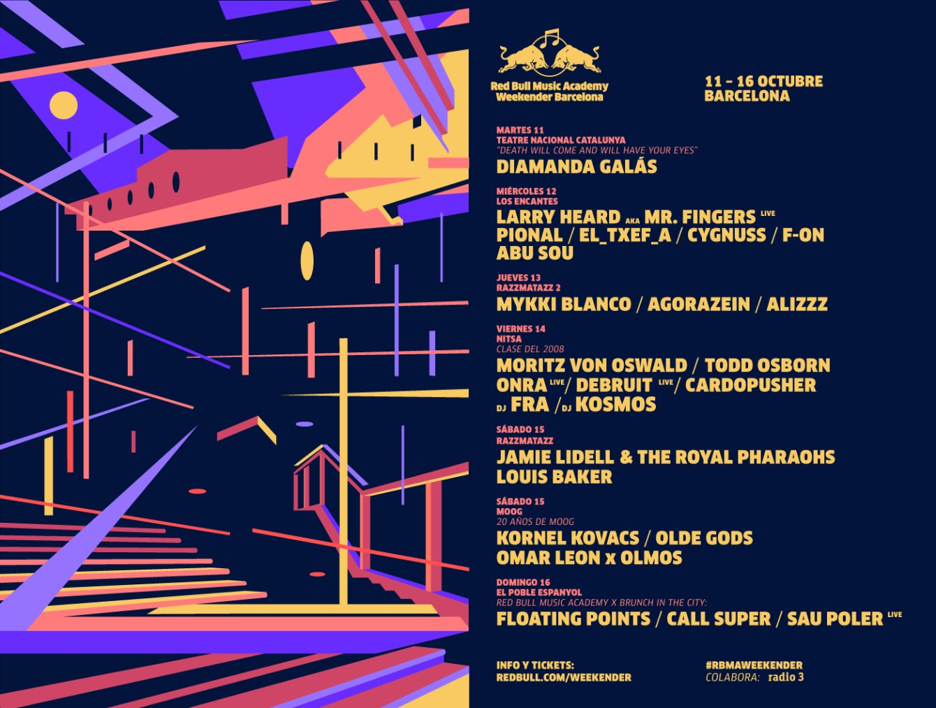 Entradas en Taquilla - Brunch #3: Red Bull Music Academy presents: Floating Points & More - Flyer back