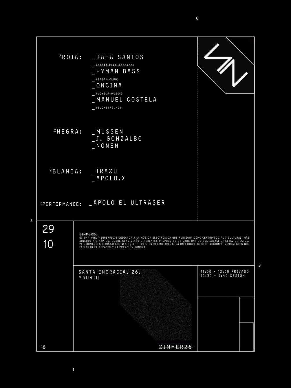 Zimmer26 / Sab29oct - Flyer front