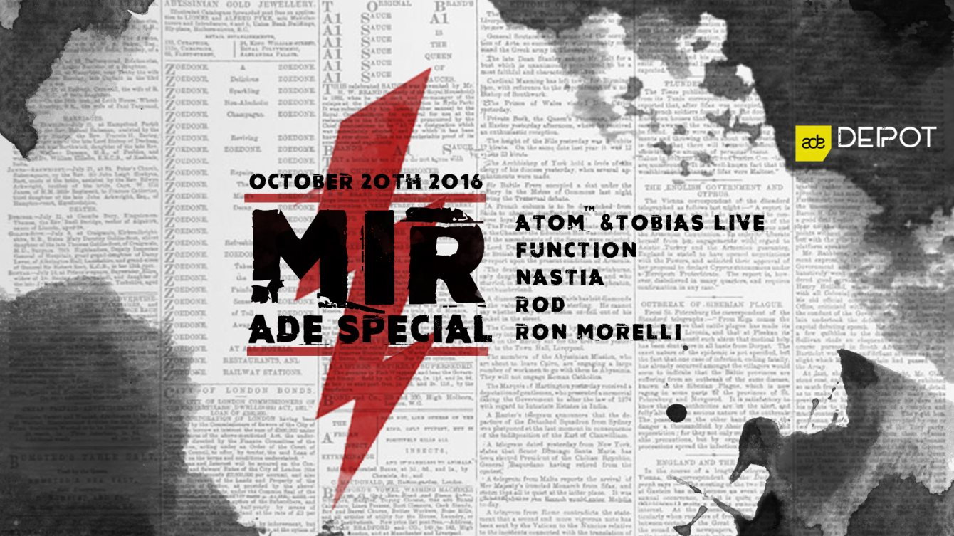 MIR ADE Special - Flyer front