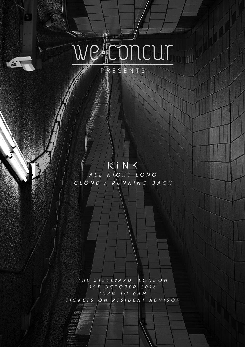 We Concur x Kink - All Night Long - Flyer back