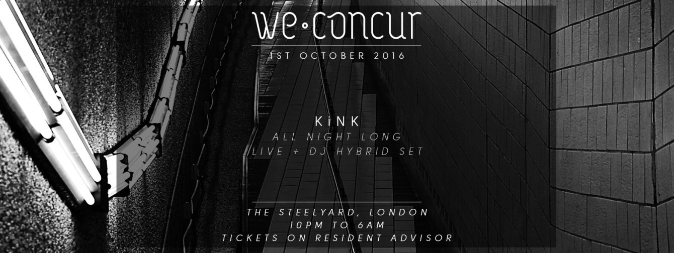 We Concur x Kink - All Night Long - Flyer front