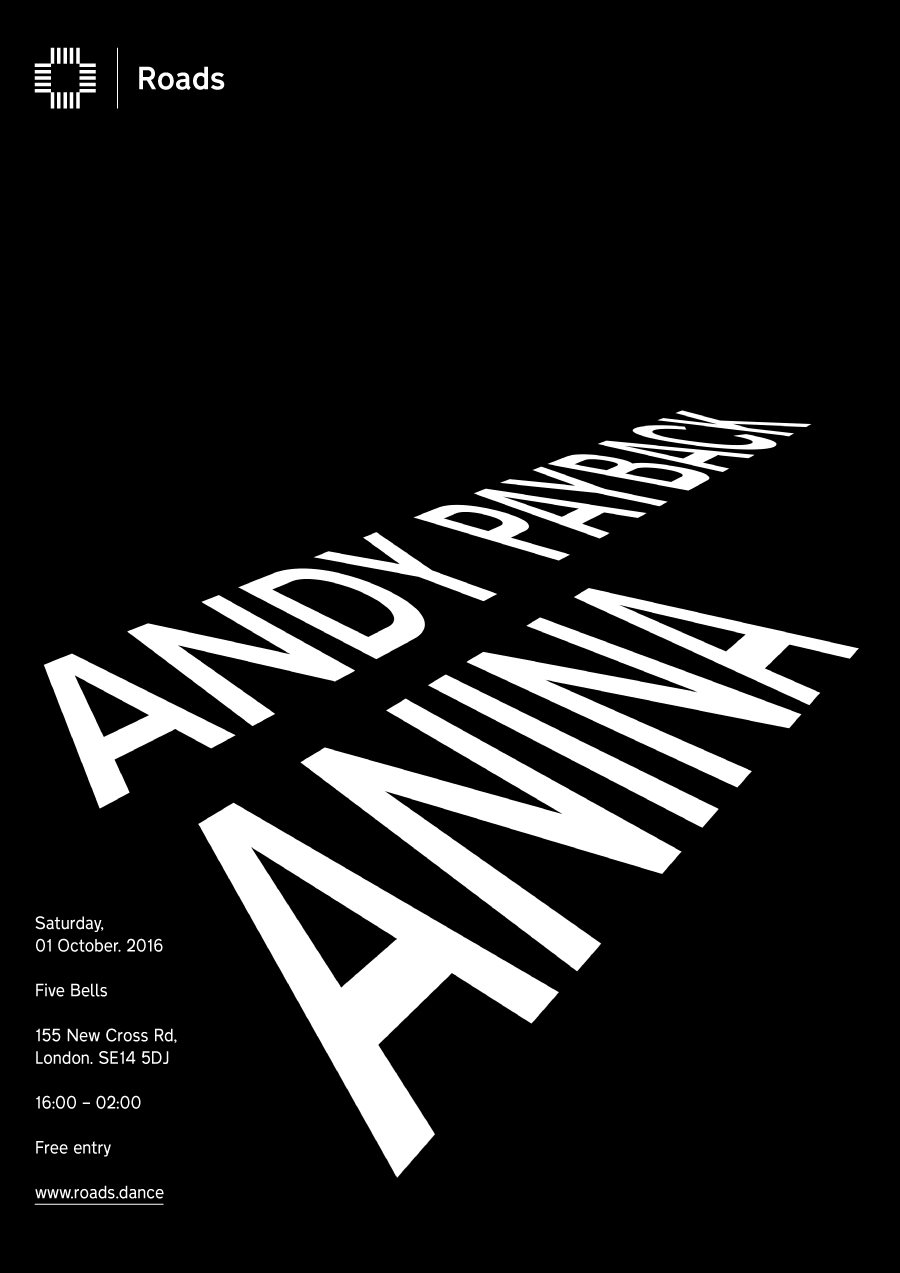 Roads 01: Andy Payback & Anina - Flyer front