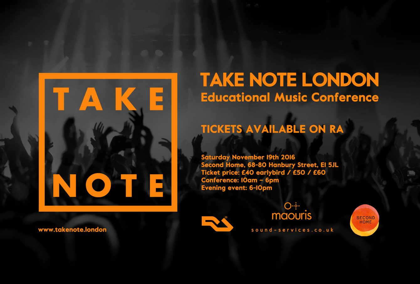 Take Note London: 2.0 - Flyer front