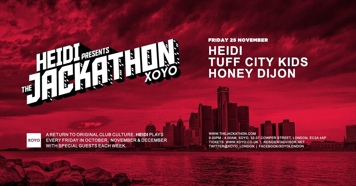 Heidi + Tuff City Kids + Honey Dijon - Flyer front