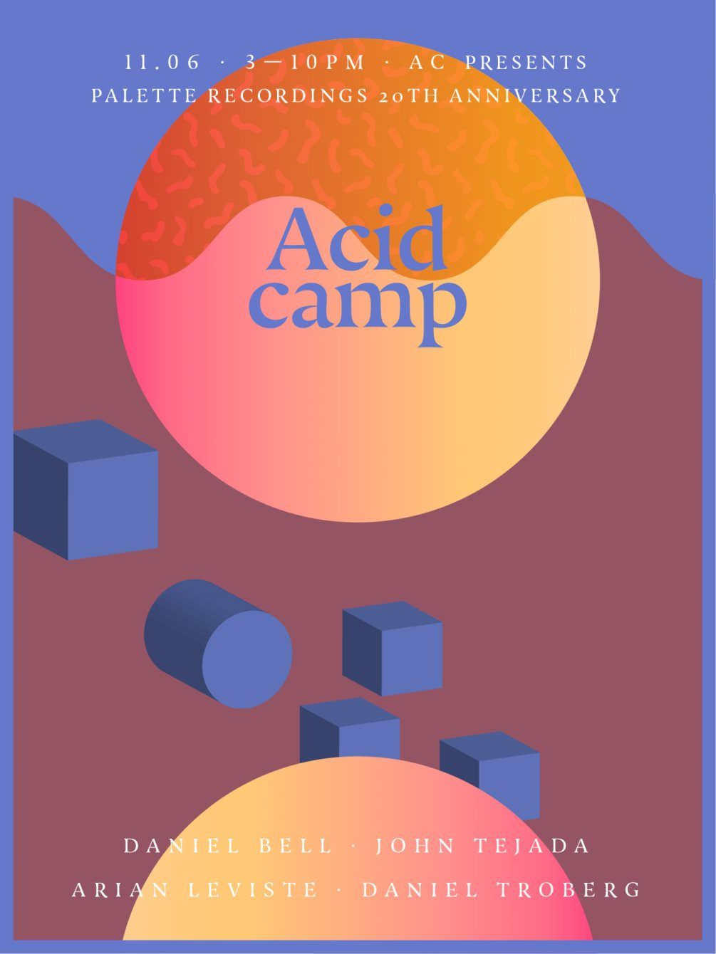 Acid Camp Sunday: Palette Recordings 20th Anniversary - Flyer front