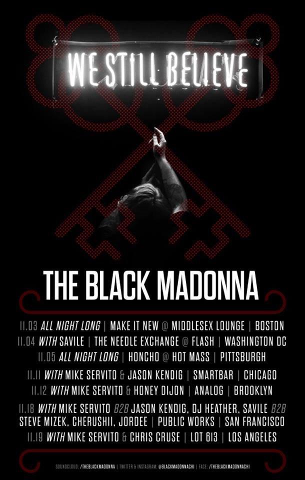 Black Madonna We Still Believe Tour - Flyer front