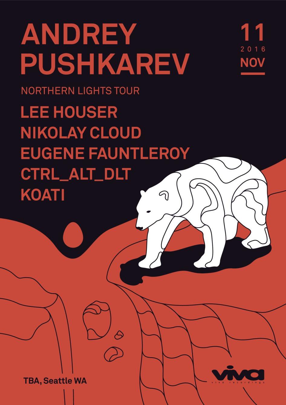 Andrey Pushkarev - Northern Lights Tour - Flyer front