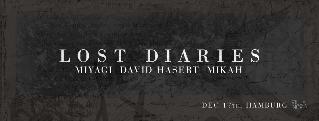 Lost Diaries - Flyer front