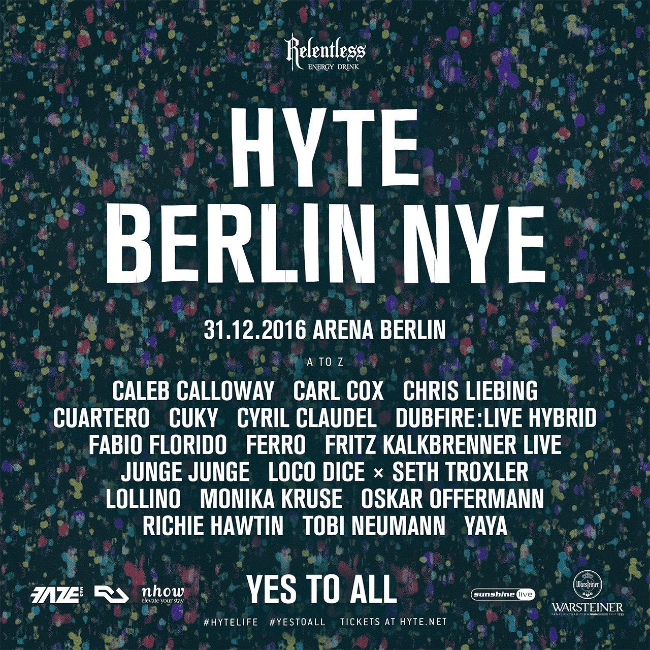 HYTE Berlin NYE 2016 - Flyer front