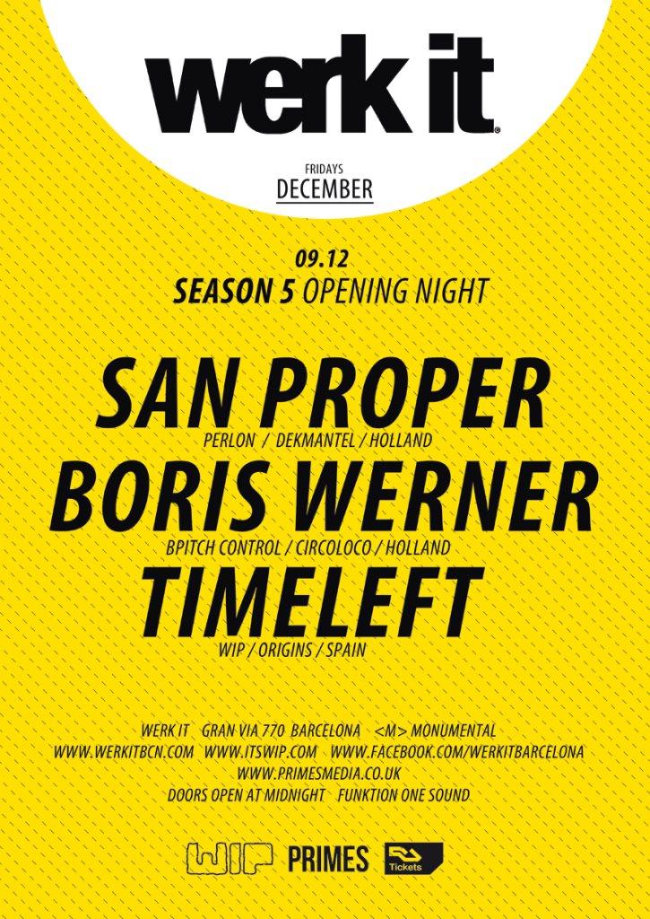 Werk IT Season 5 Opening Night - Flyer front