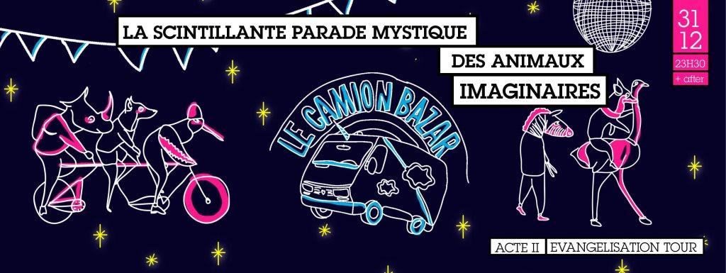 Club After/ La Scintillante Parade des Animaux Imaginaires - Flyer front