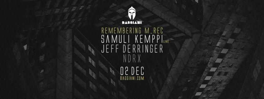 Remembering M_rec with Samuli Kemppi & Jeff Derringer - Flyer front
