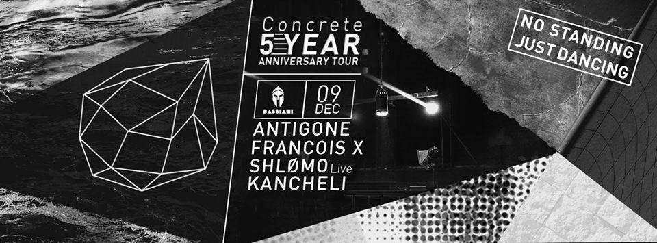 Concrete Night with Antigone, Francois X & Shlømo - Flyer front