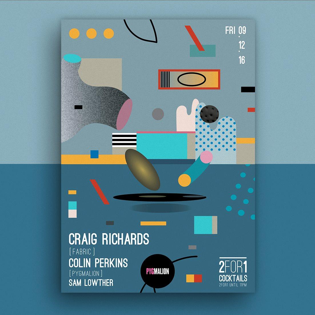 Pyg presents Craig Richards - Flyer front