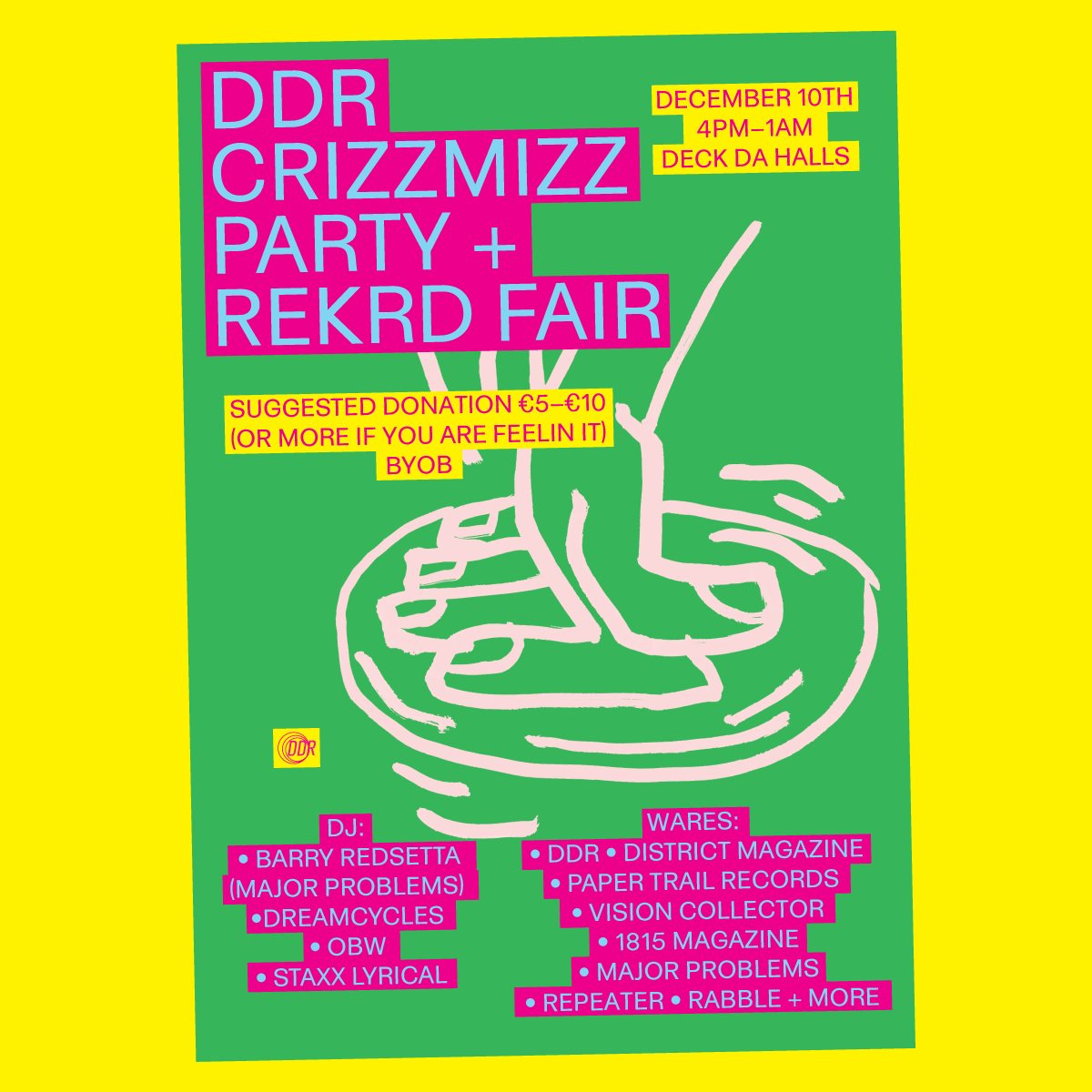 DDR Crizzmazz Party Record Fair - Flyer front