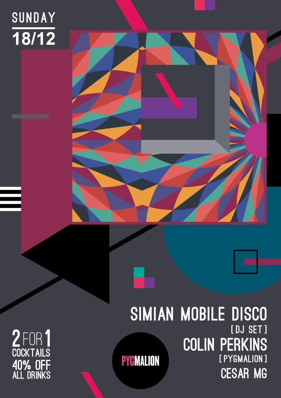 Pyg Sundays presents Simian Mobile Disco - Flyer front