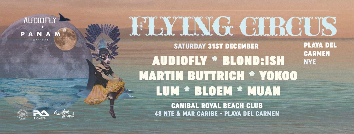 Flying Circus NYE Playa del Carmen - Flyer back