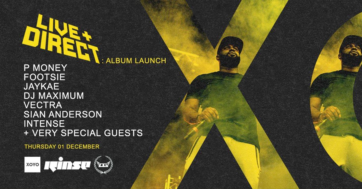 P Money - Live & Direct Album Launch Party - Flyer front