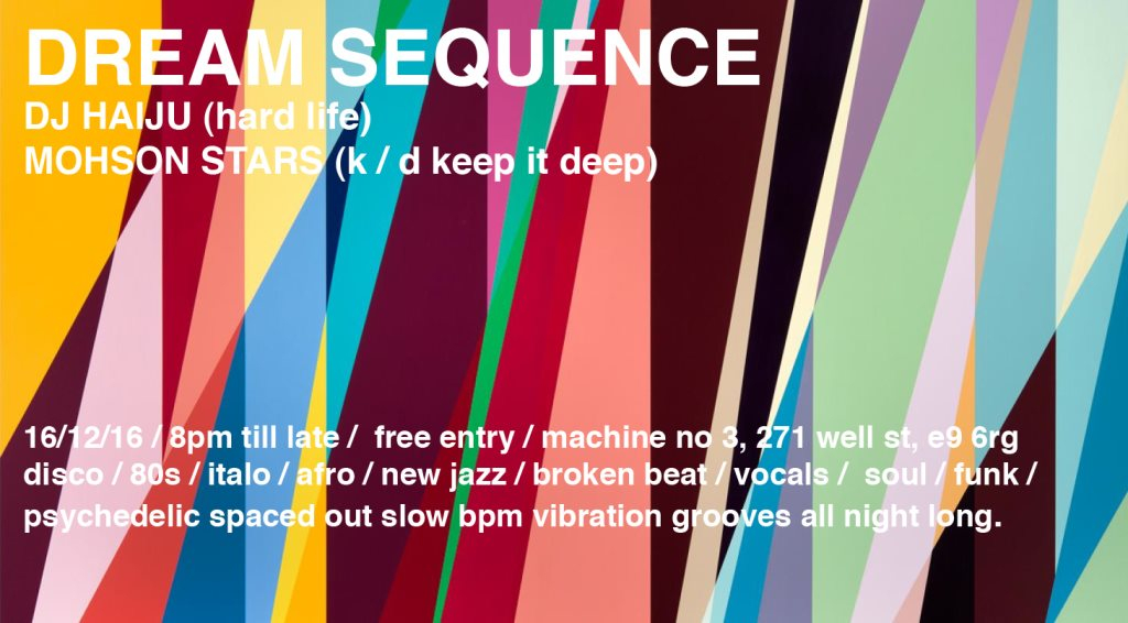K / D presents Dream Sequence at Machine No 3 - Flyer front