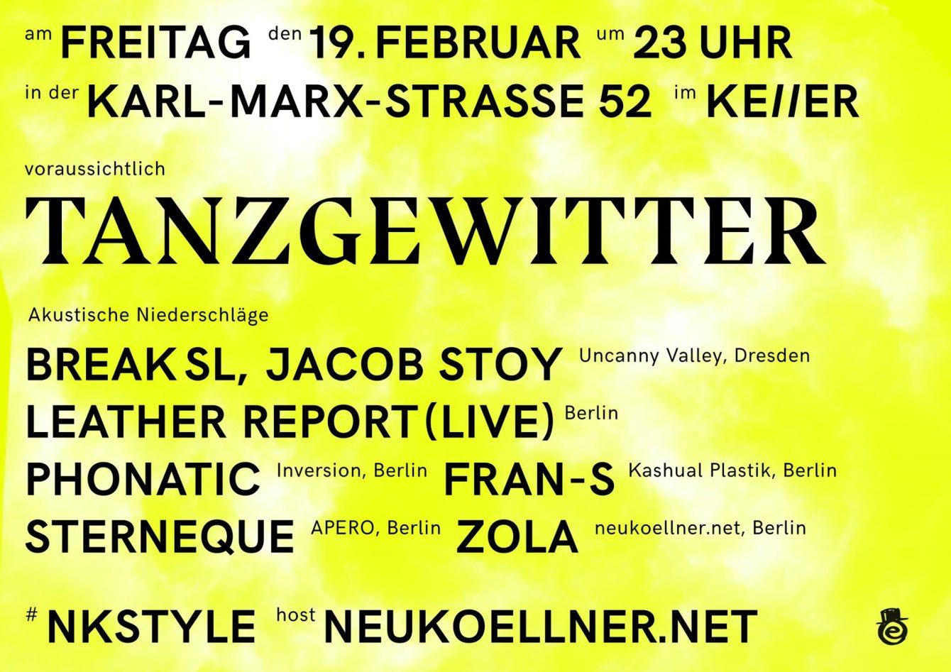 Tanzgewitter #Nkstyle - Flyer front