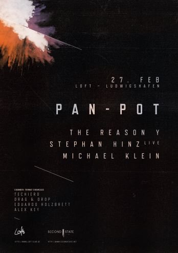 Second State Showcase with Pan-Pot, The Reason Y, Stephan Hinz and Many More - Flyer front