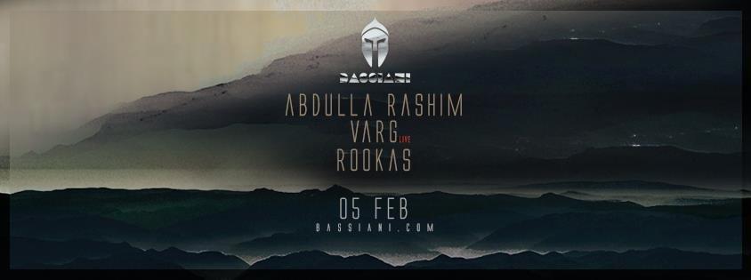 Northern Electronics Night with Abdulla Rashim, Varg & Rookas - Flyer front