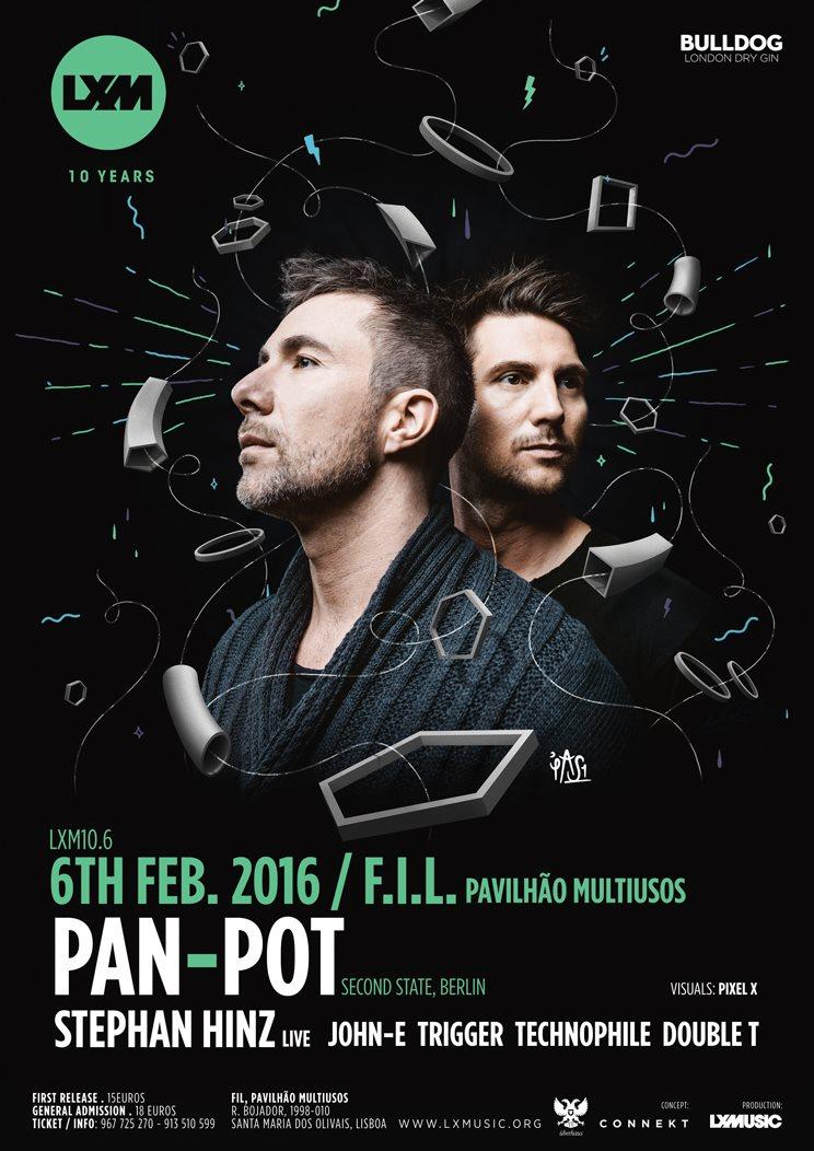 Pan-Pot at LX Music 10.6 - Flyer front