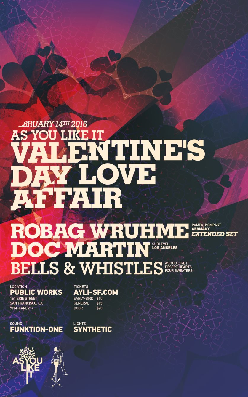 Ayli Valentine's Day Love Affair with Robag Wruhme (Extended Set) and Doc Martin - Flyer front