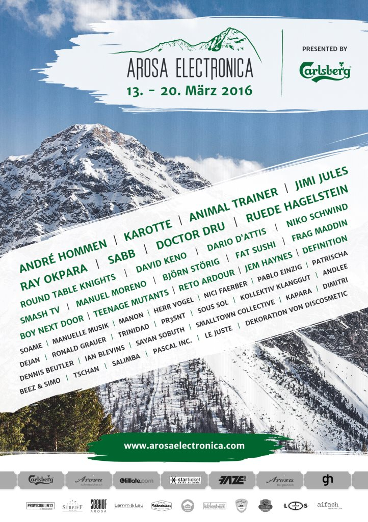 Arosa Electronica 2016 - Flyer front