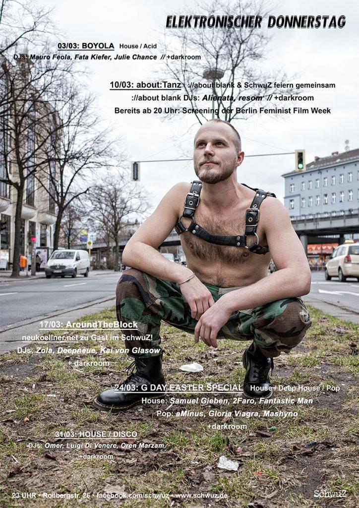 Elektronischer Donnerstag: Aroundtheblock - Flyer front