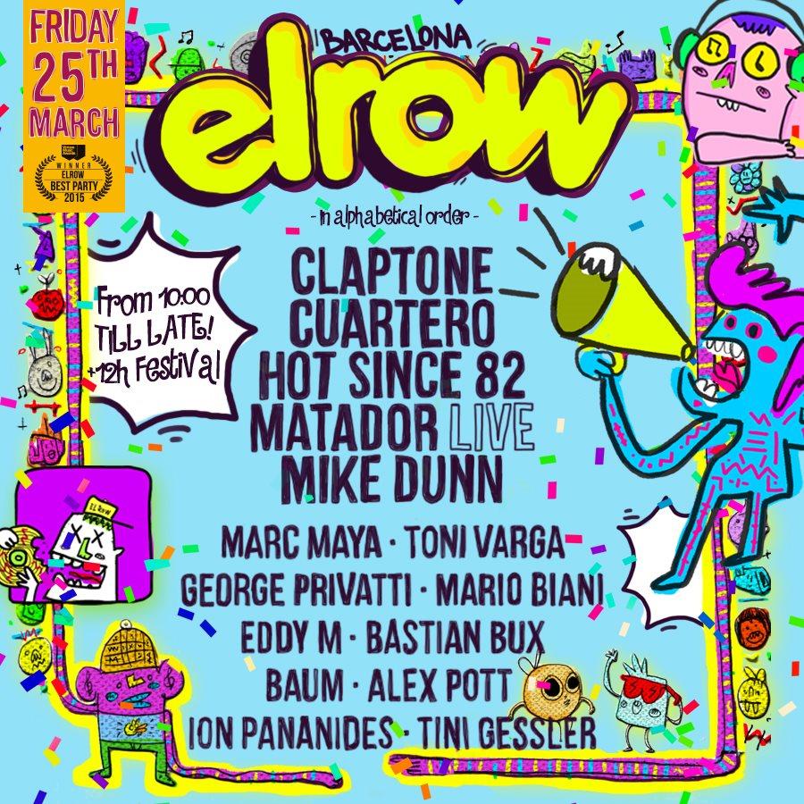 Elrow Barcelona - Flyer front