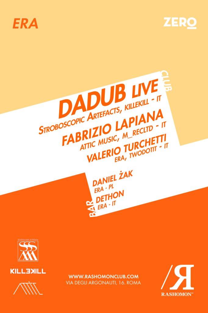 ERA with Dadub Live Fabrizio Lapiana - Flyer back
