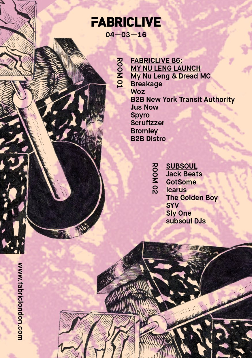 Fabriclive 86: My Nu Leng & Subsoul - Flyer front