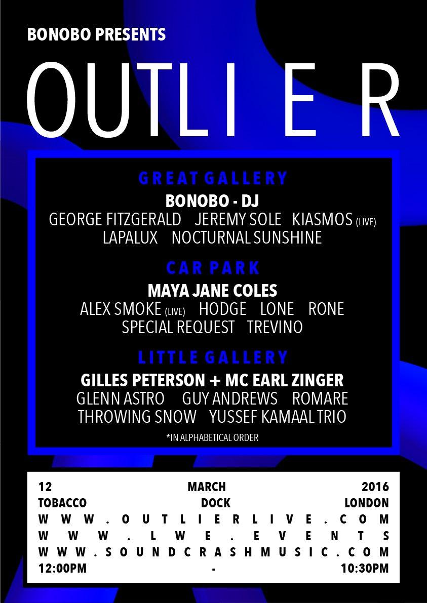 Bonobo presents... Outlier - Flyer front