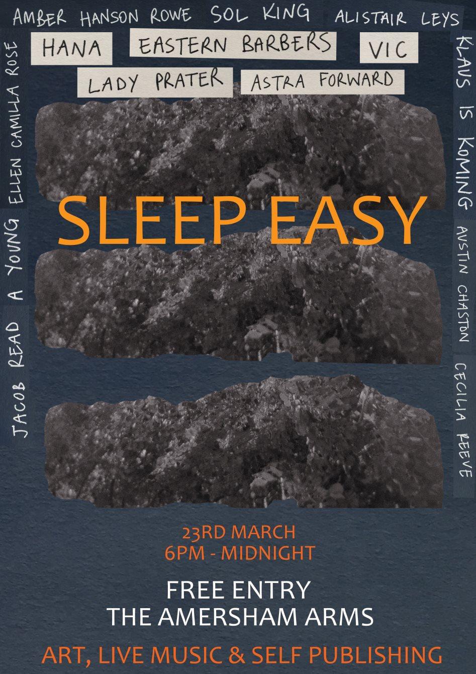 Sleep Easy - Flyer front