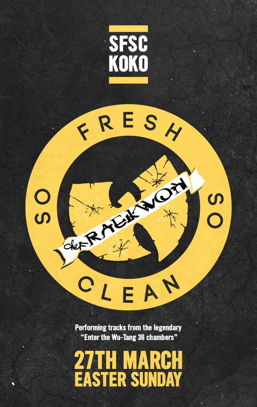 So Fresh So Clean with Raekwon (Wu-Tang Clan) - Flyer front