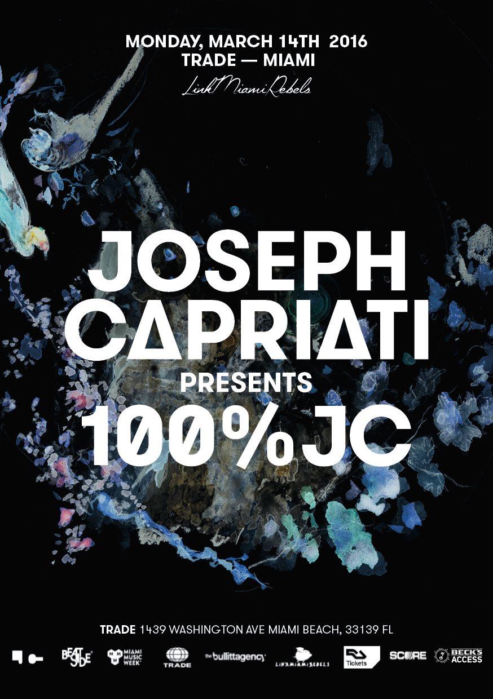 100% Joseph Capriati by Link Miami Rebels - Flyer front