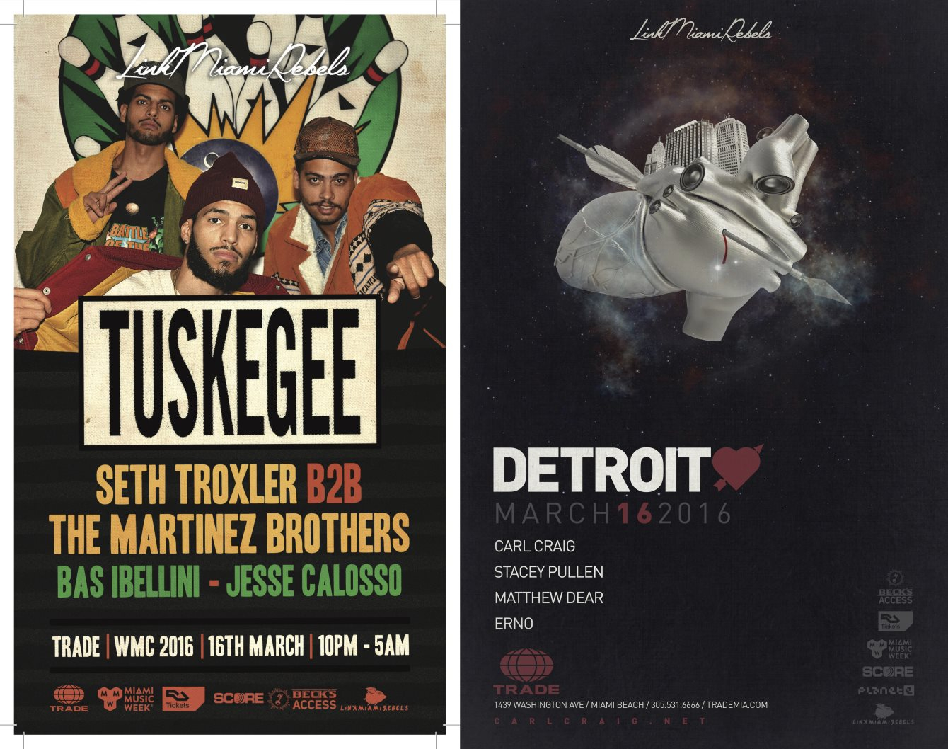 Tuskegee + Detroit Love by Link Miami Rebels - Flyer front