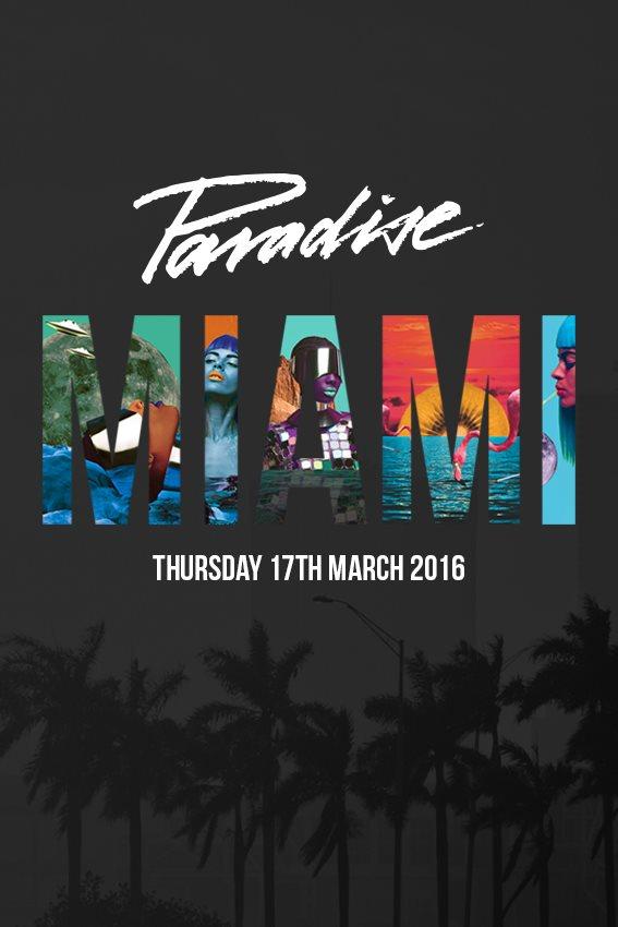 Paradise Miami - Flyer front