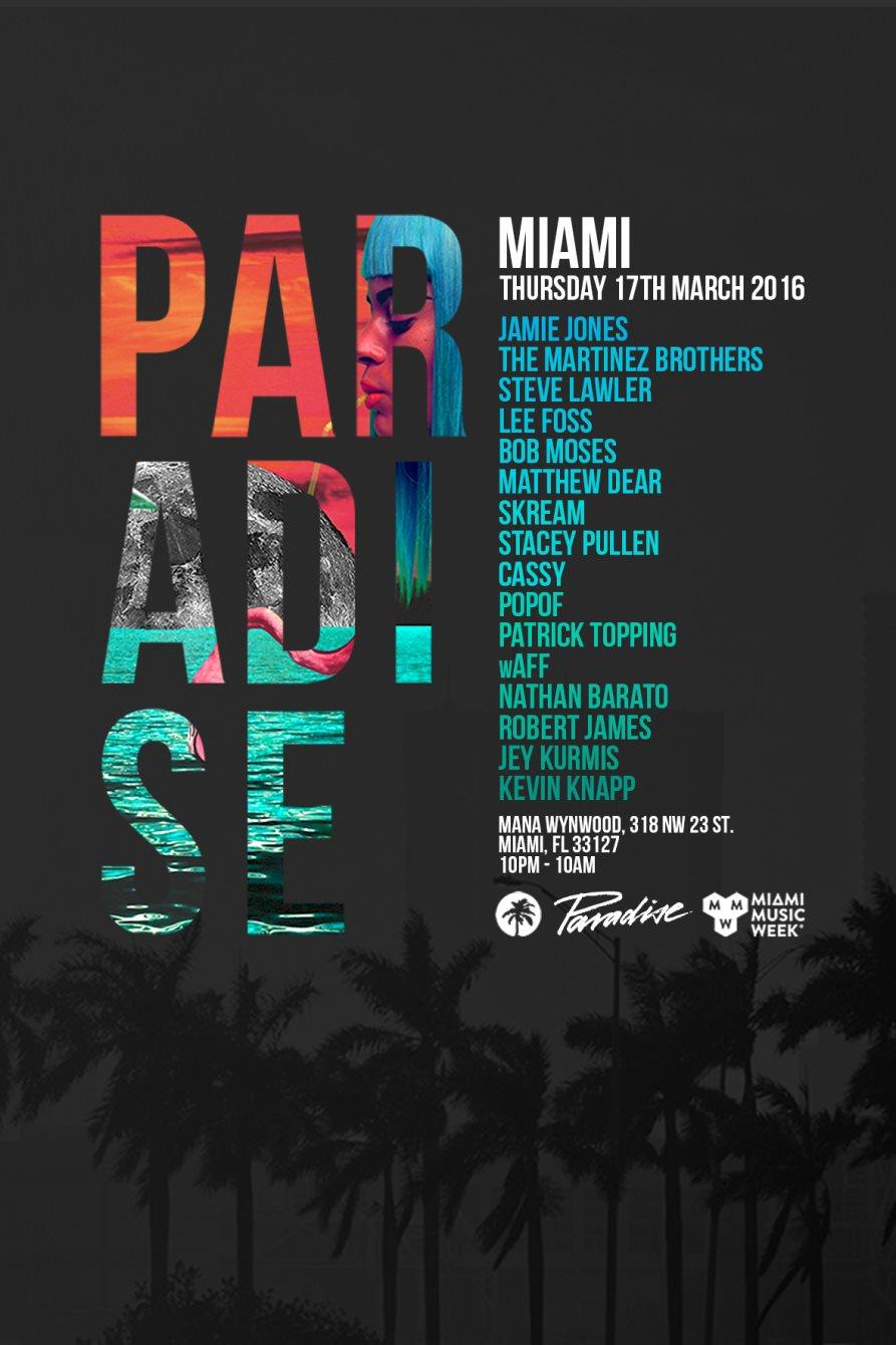 Paradise Miami - Flyer back