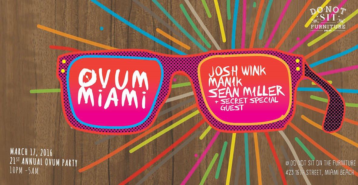 MMW: Ovum Showcase with Josh Wink & Friends - Flyer front