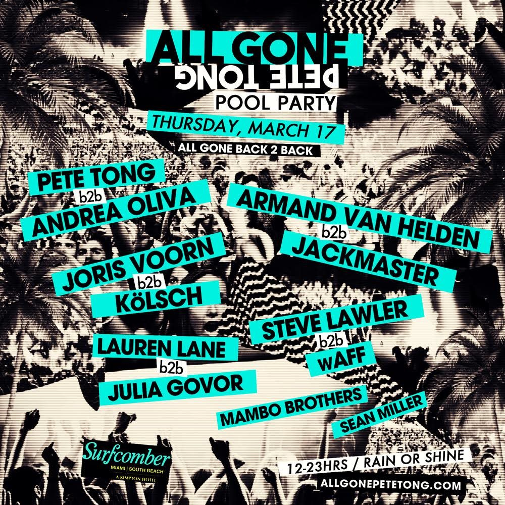 All Gone Pete Tong - Flyer front