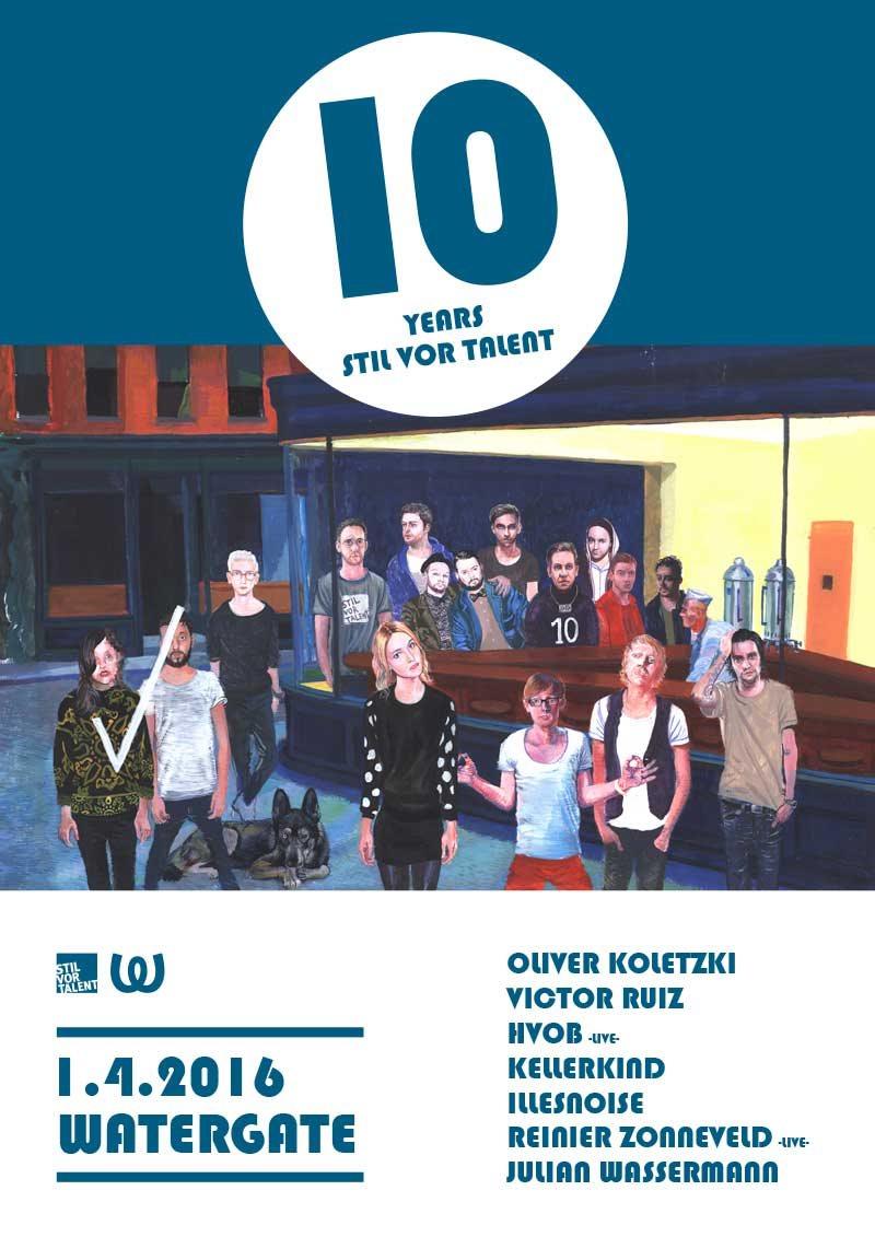 10 Years Stil vor Talent - Flyer front