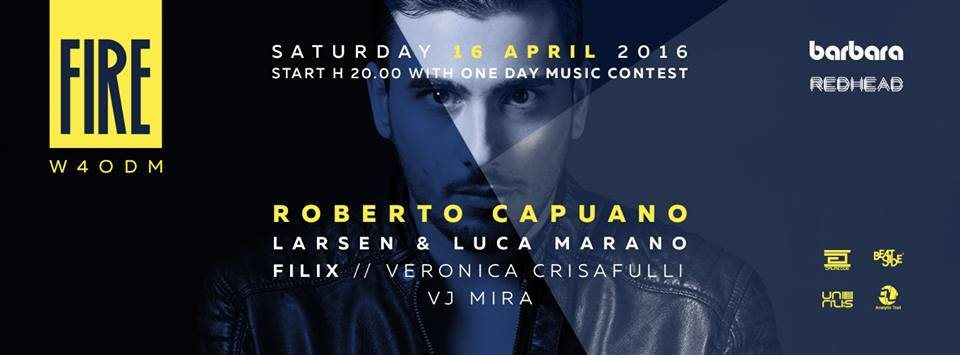 Fire with Roberto Capuano - Flyer front