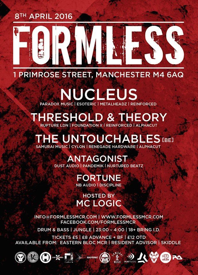 Formless - Flyer back