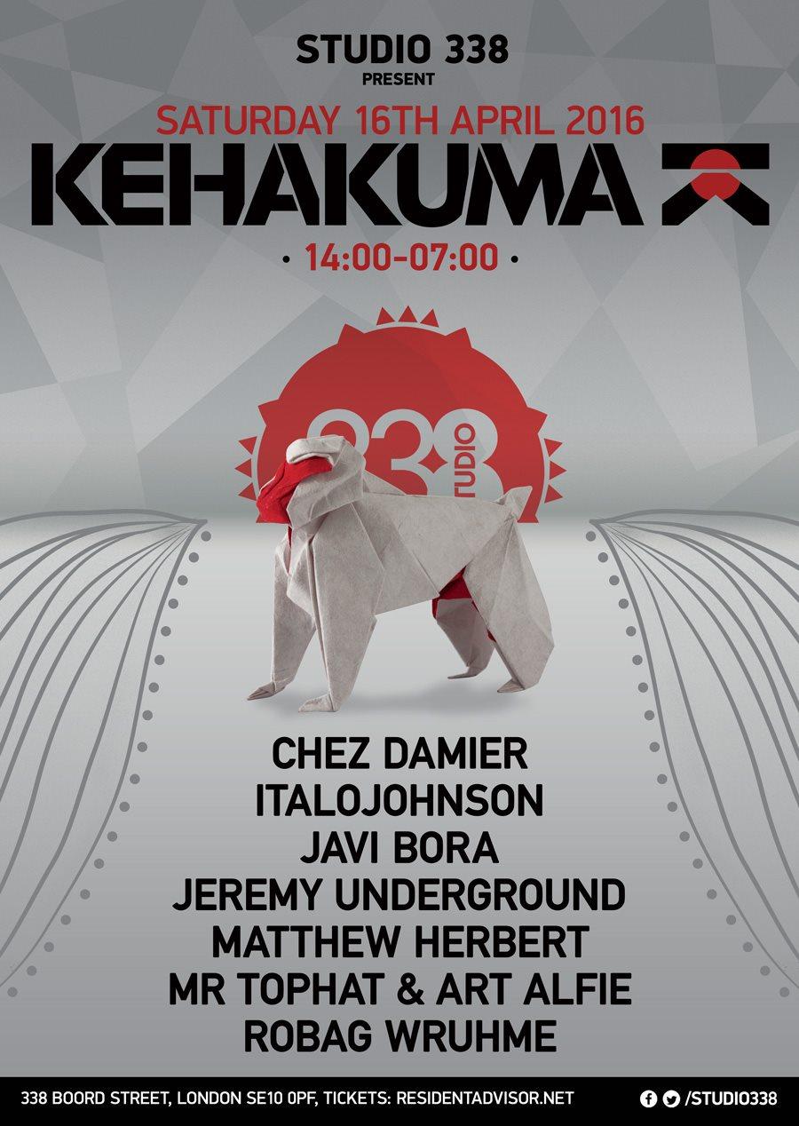 Kehakuma with Chez Damier, Jeremy Underground, Herbert, Robag Wruhme, Italojohnson - Flyer front